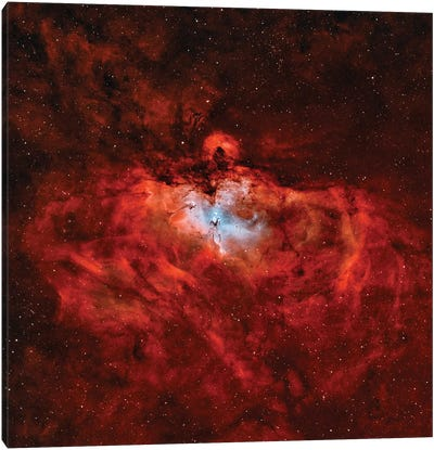 The Eagle Nebula (M16) In The Constellation Serpens Canvas Art Print