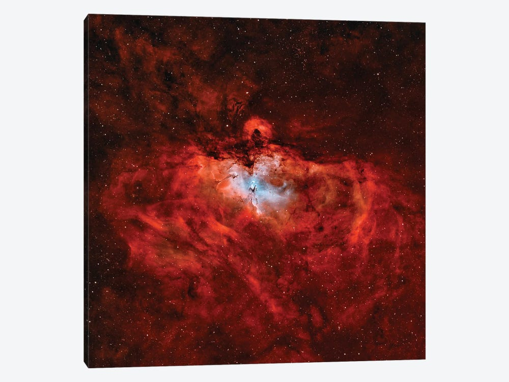 The Eagle Nebula (M16) In The Constellation Serpens by Rolf Geissinger 1-piece Canvas Wall Art