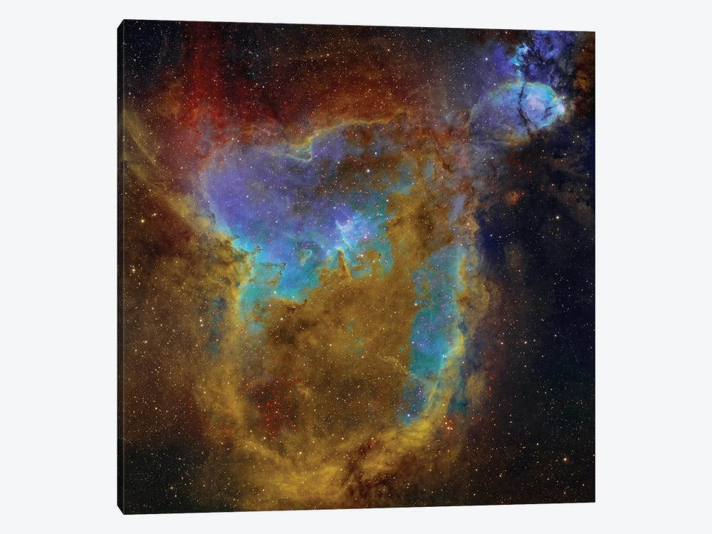 The Heart Nebula (IC 1805) I by Rolf Geissinger 1-piece Art Print