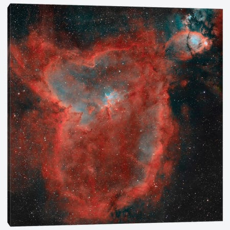 The Heart Nebula (IC 1805) II Canvas Print #TRK1360} by Rolf Geissinger Canvas Art Print