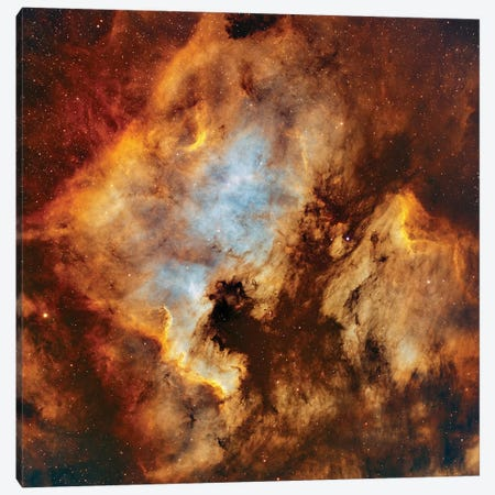 The North America Nebula And Pelican Nebula In Cygnus Canvas Print #TRK1361} by Rolf Geissinger Canvas Print