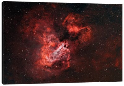The Omega Nebula (M17) Canvas Art Print