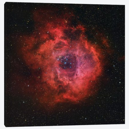 The Rosette Nebula Canvas Print #TRK1366} by Rolf Geissinger Canvas Art