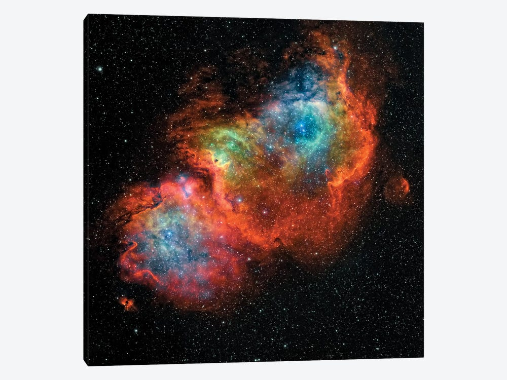 The Soul Nebula (IC 1848) by Rolf Geissinger 1-piece Canvas Wall Art