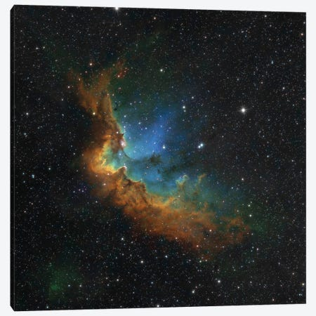 The Wizard Nebula (NGC 7380) In Hubble-Palette Colors Canvas Print #TRK1368} by Rolf Geissinger Art Print