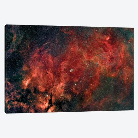 Widefield View Of The Crescent Nebula (NGC 6888) Canvas Print #TRK1369} by Rolf Geissinger Canvas Art Print
