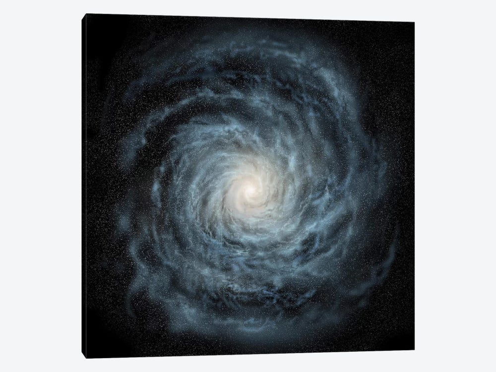 Artist's Concept Of A Face-On View Of Our Galaxy, The Milky Way by Ron Miller 1-piece Art Print