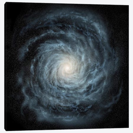 Artist's Concept Of A Face-On View Of Our Galaxy, The Milky Way Canvas Print #TRK1375} by Ron Miller Art Print