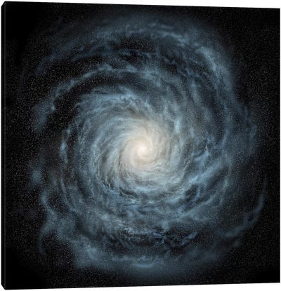 Artist's Concept Of A Face-On View Of Our Galaxy, The Milky Way Canvas Art Print