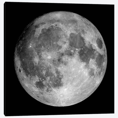 Full Moon 3-Piece Canvas #TRK1378} by Roth Ritter Canvas Artwork