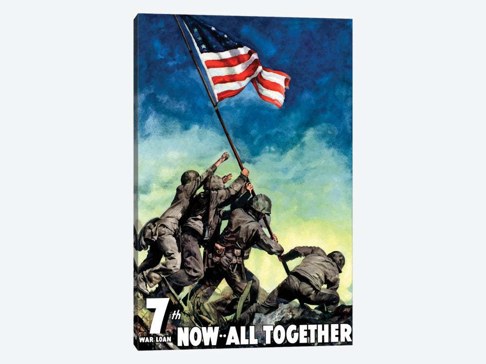 WWII Poster 7th War Loan, Now All Together by John Parrot 1-piece Canvas Art