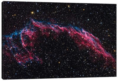 The Eastern Veil Nebula (NGC 6992) Canvas Art Print