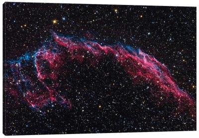 The Eastern Veil Nebula (NGC 6992) Canvas Art Print