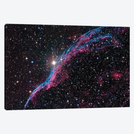 The Western Veil Nebula (NGC 6960) Canvas Print #TRK1386} by Roth Ritter Canvas Artwork