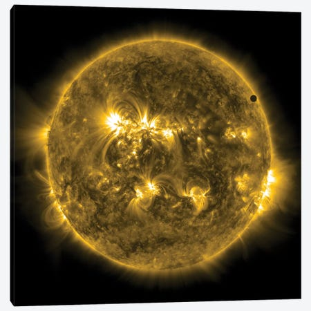 2012 Transit Of Venus Moving Across The Face Of The Sun I Canvas Print #TRK1387} by Stocktrek Images Canvas Wall Art