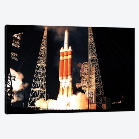 A Delta IV Heavy Rocket Lifts Off Canvas Print #TRK1391} by Stocktrek Images Canvas Wall Art