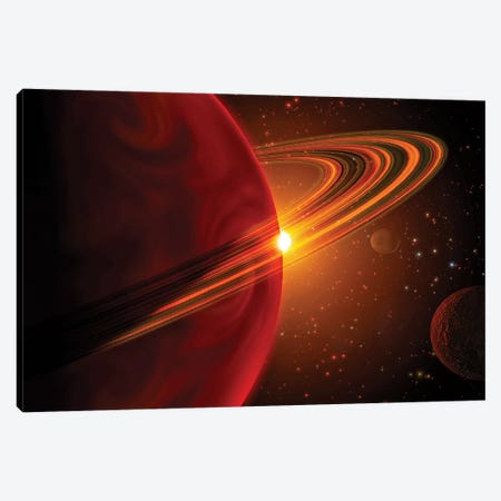 A Giant Planet Orbiting The Sun-Like Star 79 Ceti Canvas Print #TRK1395} by Stocktrek Images Canvas Art Print