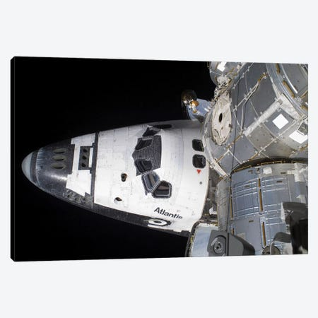 A High-Angle View Of The Crew Cabin Of Space Shuttle Atlantis Canvas Print #TRK1396} by Stocktrek Images Art Print