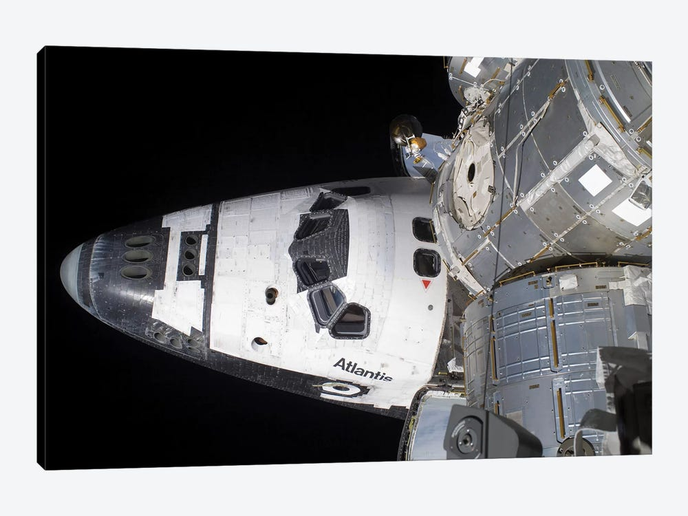 A High-Angle View Of The Crew Cabin Of Space Shuttle Atlantis by Stocktrek Images 1-piece Canvas Artwork