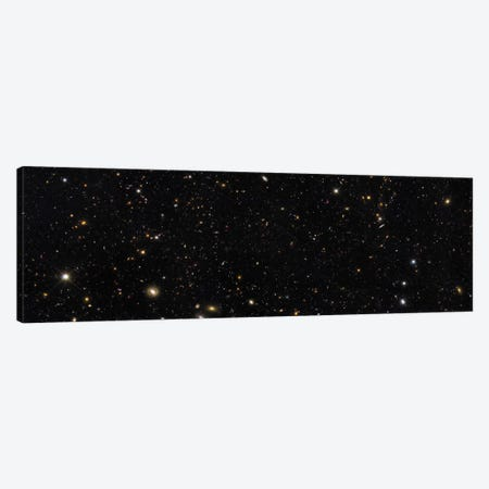 A Panoramic View Of Over 7,500 Galaxies Stretching Back Through Most Of The Universe's History Canvas Print #TRK1401} by Stocktrek Images Canvas Wall Art