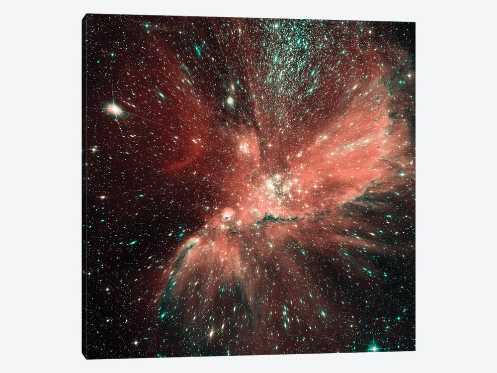 A Population Of Infant Stars In The Milky Way Satellite Galaxy, The Small Magellanic Cloud by Stocktrek Images 1-piece Canvas Wall Art