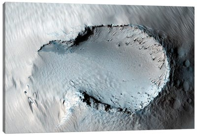 A Small Cone On The Side Of One Of Mars' Giant Shield Volcanoes Canvas Art Print