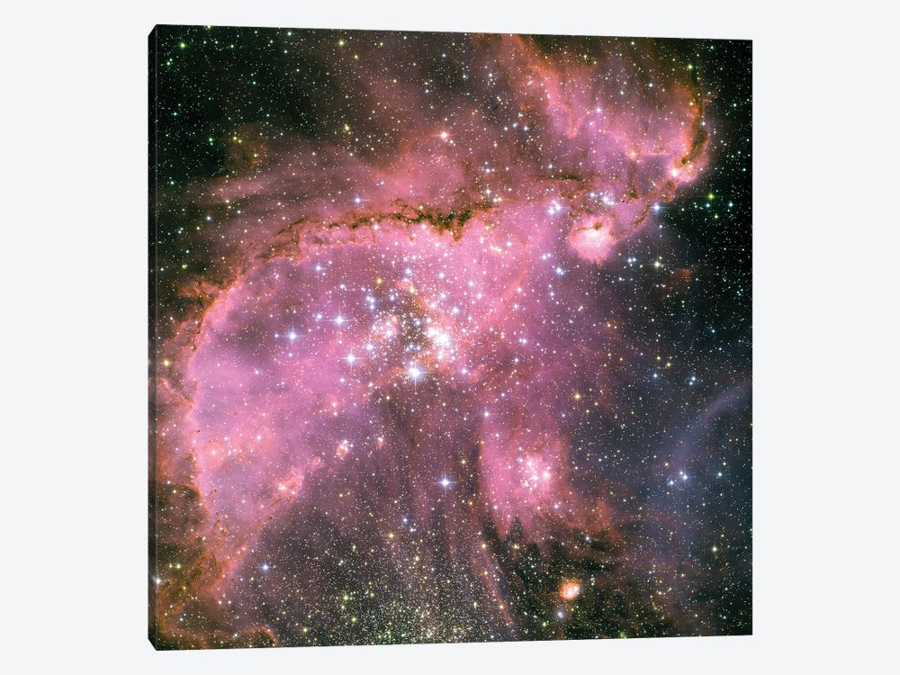 A Star-Forming Region In The Small Magellanic Cloud by Stocktrek Images 1-piece Canvas Art