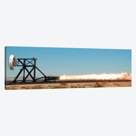 A Trial Run On A Rocket Sled Test Fixture Powered By Rockets Canvas Print #TRK1409} by Stocktrek Images Canvas Wall Art