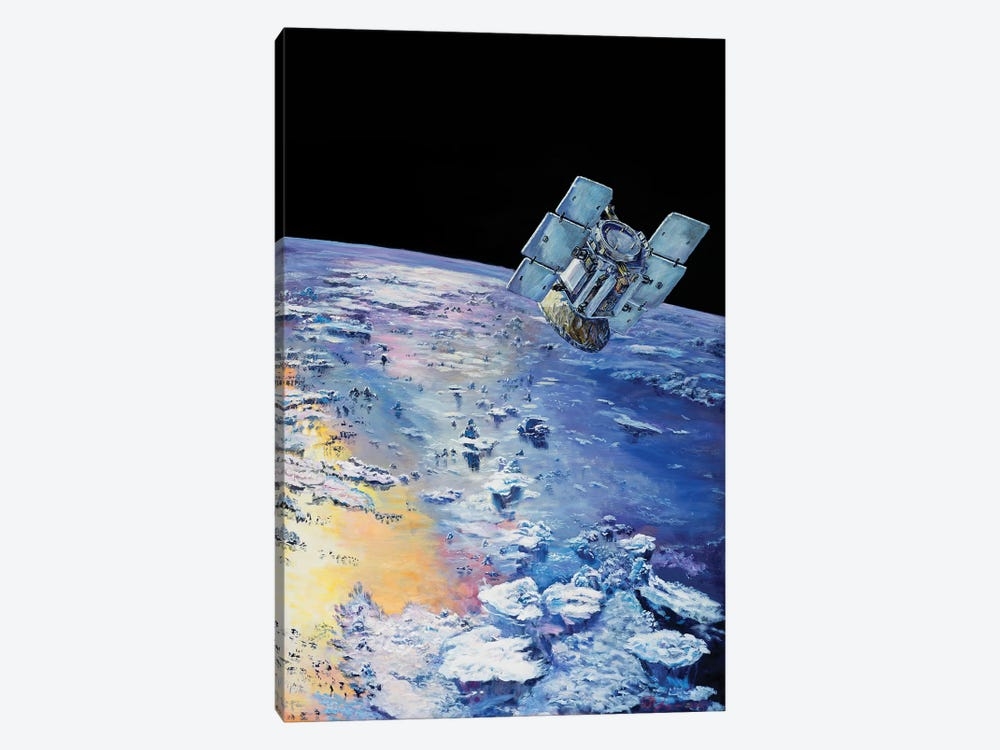 An Artist's Concept Depicting CloudSat In Orbit Around Earth by Stocktrek Images 1-piece Canvas Print