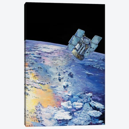 An Artist's Concept Depicting CloudSat In Orbit Around Earth Canvas Print #TRK1416} by Stocktrek Images Canvas Art