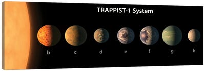 An Artist's Illustration Of What TRAPPIST-1's Seven Planets Might Look Like Canvas Art Print