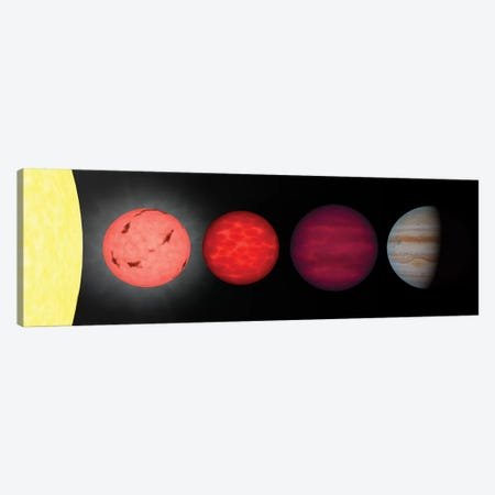 An Artist's Rendition Comparing Brown Dwarfs To Stars And Planets Canvas Print #TRK1418} by Stocktrek Images Canvas Print