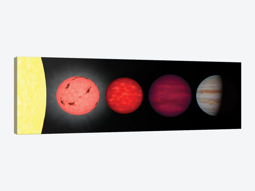 An Artist's Rendition Comparing Brown Dwarfs To Stars And Planets by Stocktrek Images 1-piece Canvas Print