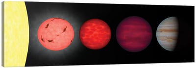 An Artist's Rendition Comparing Brown Dwarfs To Stars And Planets Canvas Art Print