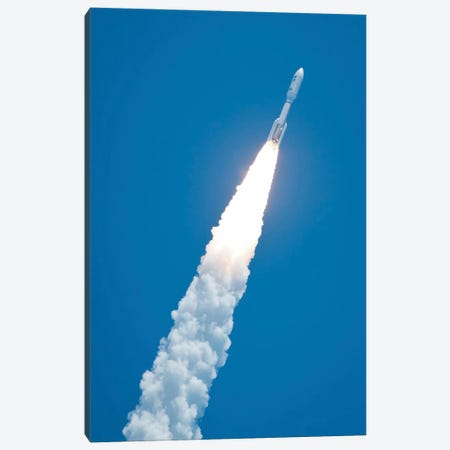 An Atlas V Rocket Carrying The Juno Spacecraft During A Midday Launch Canvas Print #TRK1419} by Stocktrek Images Canvas Print
