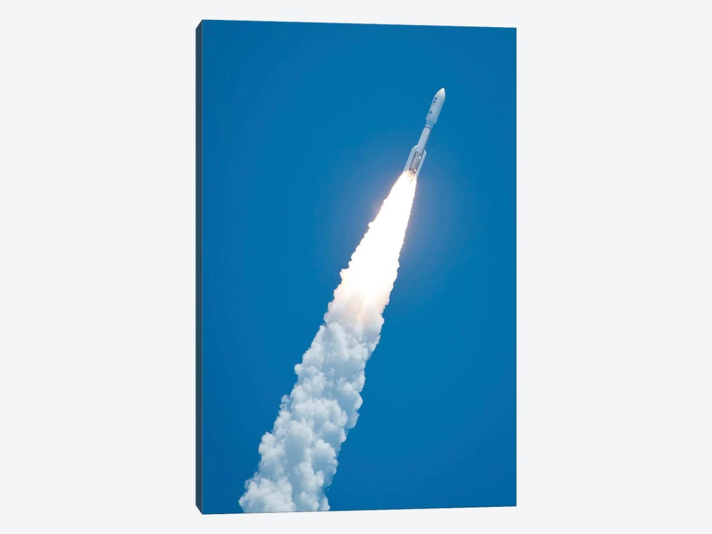 An Atlas V Rocket Carrying The Juno Spacecraft During A Midday Launch by Stocktrek Images 1-piece Canvas Wall Art