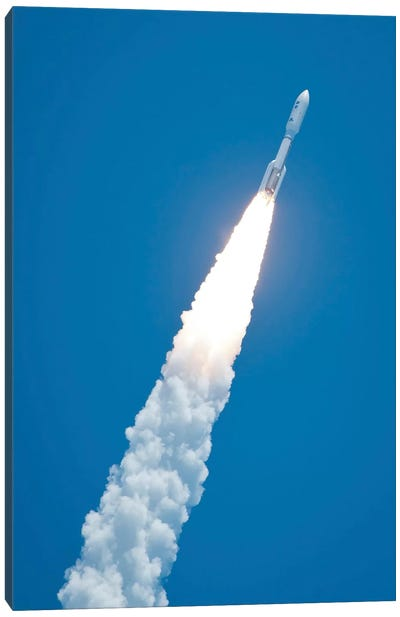 An Atlas V Rocket Carrying The Juno Spacecraft During A Midday Launch Canvas Art Print