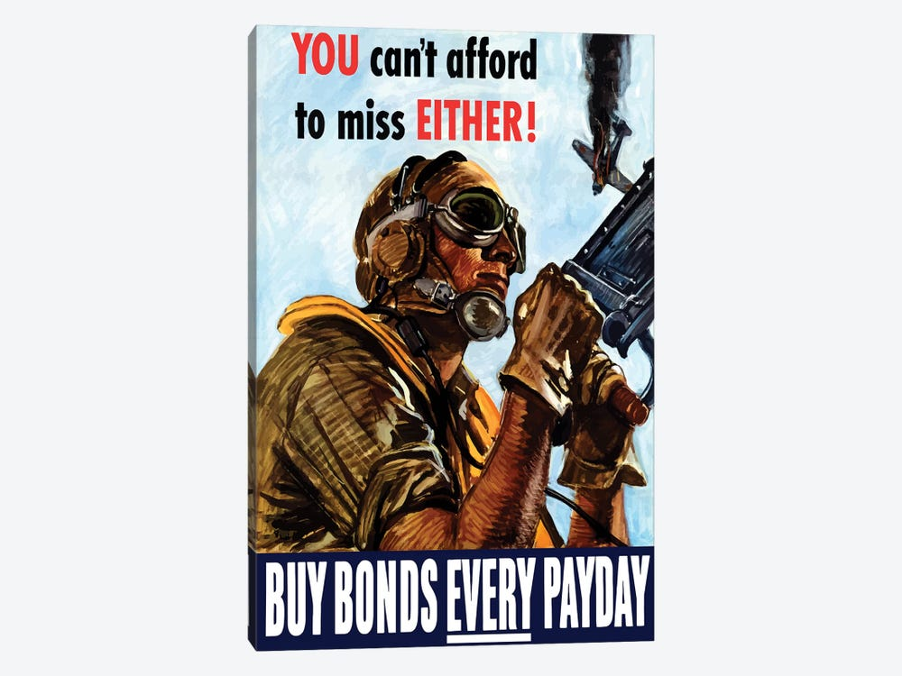 WWII Poster Buy Bonds Every Payday by John Parrot 1-piece Canvas Art Print