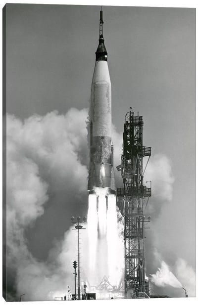 An Atlas V Rocket Lifting Off Canvas Art Print