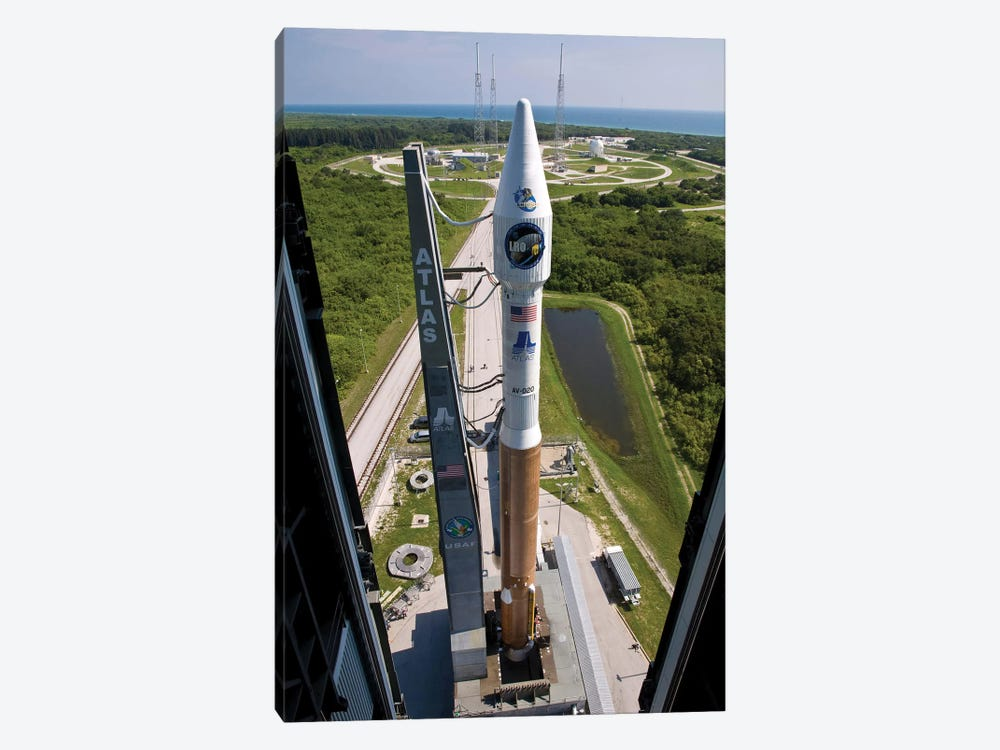 An Atlas V Rocket On The Launch Pad At Cape Canaveral Air Force Station, Florida by Stocktrek Images 1-piece Art Print