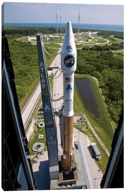An Atlas V Rocket On The Launch Pad At Cape Canaveral Air Force Station, Florida Canvas Art Print