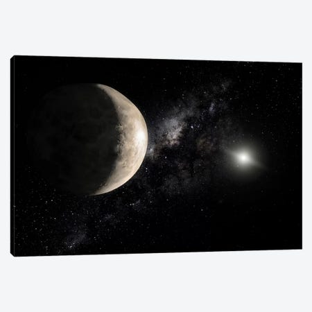 An Illustration Of Makemake, A Plutoid Located In A Region Beyond Neptune Canvas Print #TRK1423} by Stocktrek Images Canvas Art