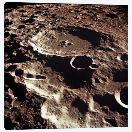 An Oblique View Of The Crater Daedalus On The Moon Canvas Print #TRK1426} by Stocktrek Images Canvas Print