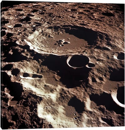 An Oblique View Of The Crater Daedalus On The Moon Canvas Art Print