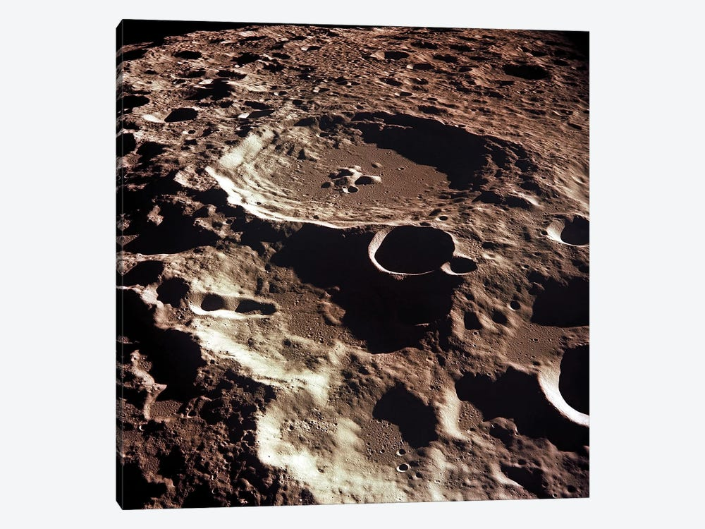 An Oblique View Of The Crater Daedalus On The Moon by Stocktrek Images 1-piece Canvas Art