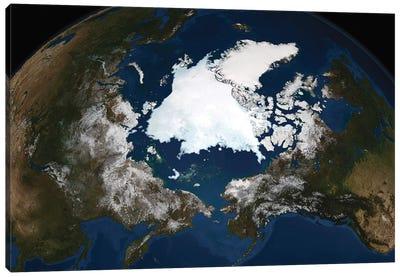 Arctic Sea Ice Canvas Art Print