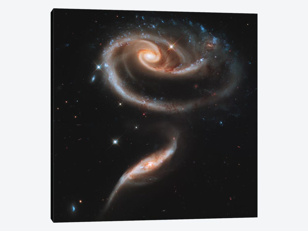 Arp 273 Interacting Galaxies In Andromeda by Stocktrek Images 1-piece Canvas Art Print