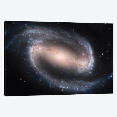Barred Spiral Galaxy (NGC 1300) Canvas Print #TRK1433} by Stocktrek Images Canvas Art Print