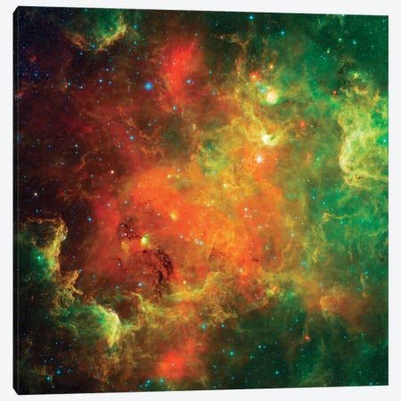 Clusters Of Young Stars In The North American Nebula Canvas Print #TRK1440} by Stocktrek Images Canvas Artwork