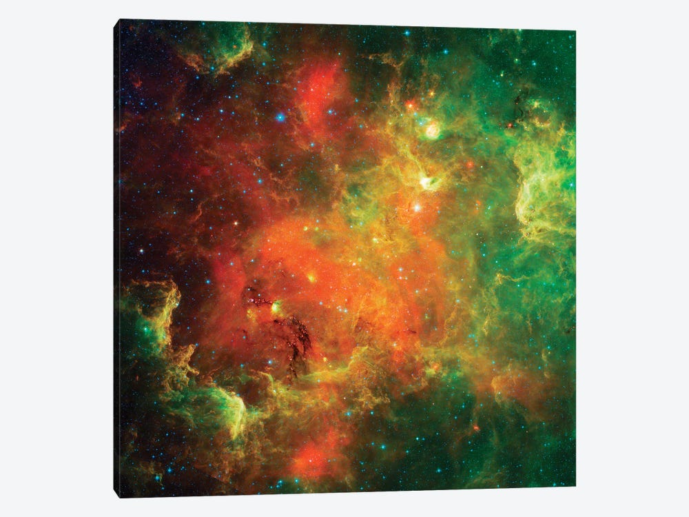 Clusters Of Young Stars In The North American Nebula by Stocktrek Images 1-piece Canvas Artwork